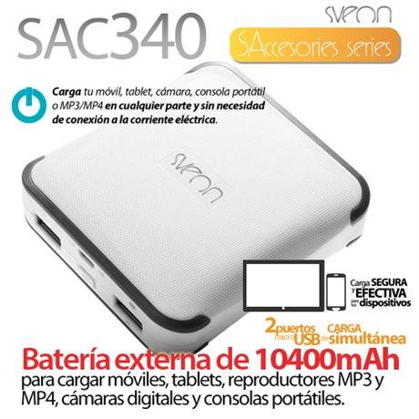 Batería externa de 10400mAh Sveon SAC340