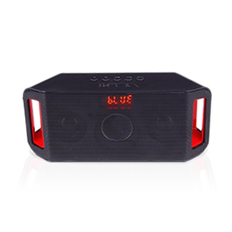 Altavoces Bluetooth USB MP3 PLAYER & Radio Color Black & Red