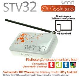 Sintonizador TDT Wireless para tabletas y móviles iOS y Android Sveon STV32