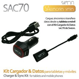 SAC070 KIT CARGADOR & DATOS PARA TABLETAS Y MOVILES