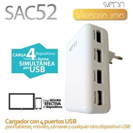 Cargador USB con puertos Sveon SAC52