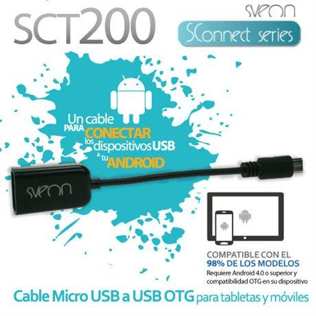 Cable Micro USB OTG para tabletas y móviles Sveon SCT200
