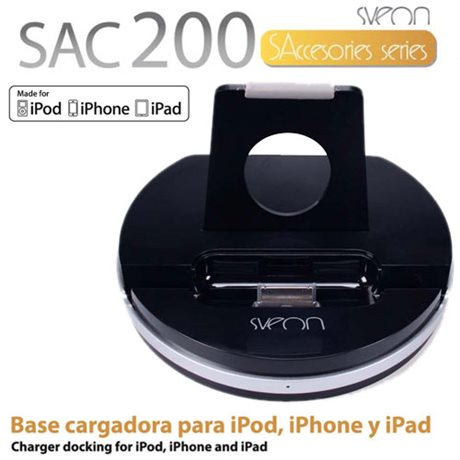 Docking Station/Base Cargadora para iPad, iPhone y iPod SAC200