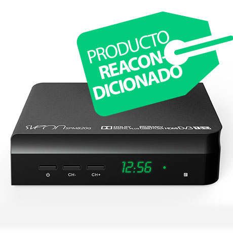 Sveon SPM820Q - Reproductor Multimedia FullHD y Sintonizador TDT HD con USB y botones en el frontal