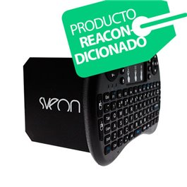 Sveon SBX600 Reacondicionado - Mini Android TV Box con Teclado Wifi compatible con Movistar+ & Netflix