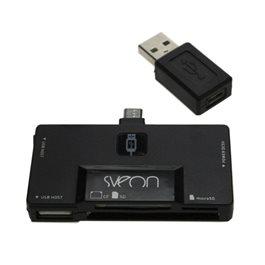 LECTOR DE TARJETAS Y HUB USB CON CONECTOR MICRO USD &038 USB PARA PC/MAC Y DISPOSITIVOS ANDROID SCT207