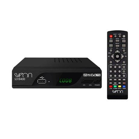 Sveon SDT8400 - Nuevo Sintonizador TDT2 HD para TV con funciones de Grabación, Reproductor Multimedia y puerto USB frontal