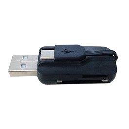 SCT206 MINI LECTOR DE TARJETAS CON CONECTOR USB & MICRO USB OCULTO PARA PC/MAC Y DISPOSITIVOS ANDRO