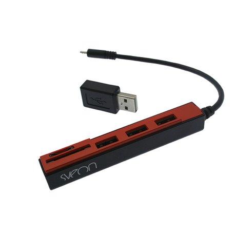 SCT031_01 BLANCO Y AZUL hub Micro USB OTG con lector de tarjetas