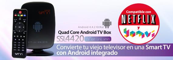 Android TV compatible con Netflix y Yomvi