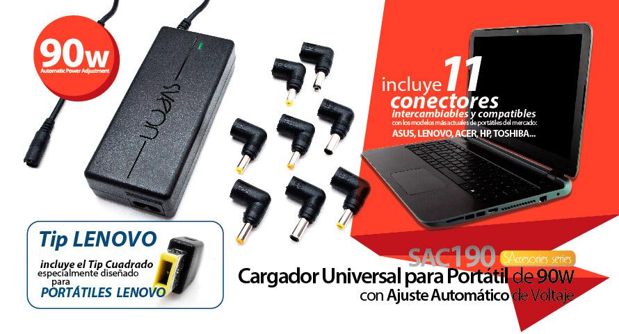 cargador portatil universal 90w