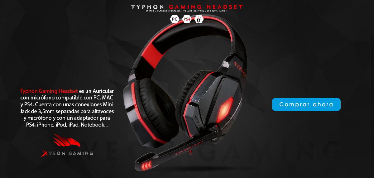 Typhon Gaming Headset - Auricular Xveon Gaming