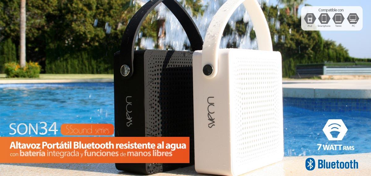 Altavoz Bluetooth Resistente al Agua con 7W de Potencia